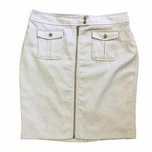 The Limited Textured Zipper Skirt Tan Size 12